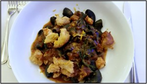 The Squid Ink Macaroni is a must-try.